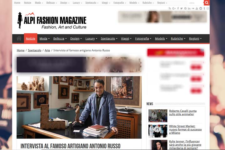 ALPI FASHION MAGAZINE - intervista ad antonio russo